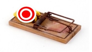 Mouse trap target